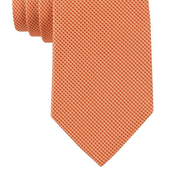 Michael Kors Orange Mini Grid Tie   100% Silk